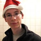 Ich mit Weihnachtsmütze