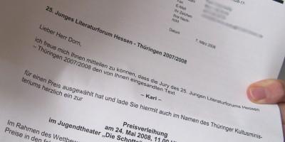 Brief vom Hessischen Ministerium für Wissenschaft und Kunst