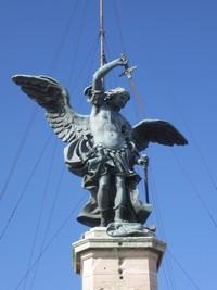 Engelsstatue auf der Engelsburg
