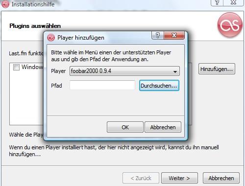 foobar2000, Last.fm-PlugIn