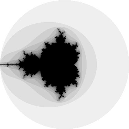 Mandelbrot-Menge mit 16 Iterationen
