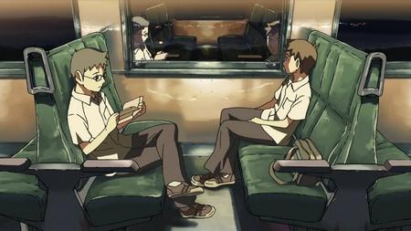Hiroki und Tayura in der Bahn