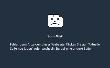 Google Chrome Fehlerseite