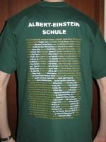Abi-T-Shirt, Rückseite mit Schriftzug