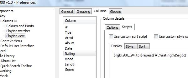 fobar2000 Columns User Interface
