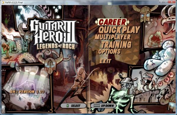 FoFiX mit Guitar Hero III Mod