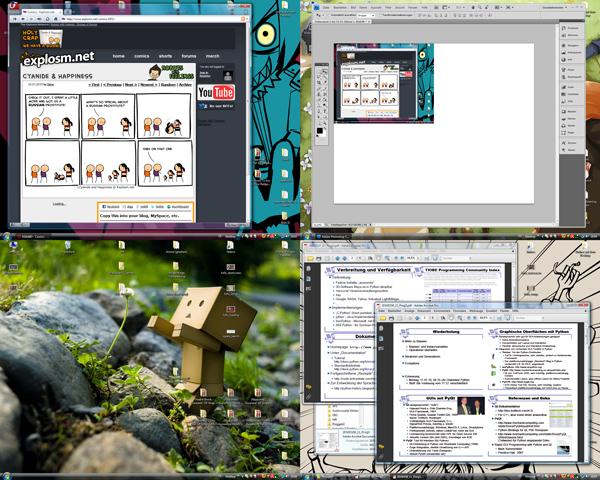 VirtuaWin - Desktopübersicht