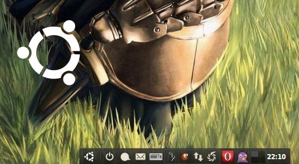 Ausschnitt vom Desktop mit AWN-Leiste